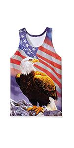 B089W8WPT4 Mens 3D Print Tank Tops American Eagle