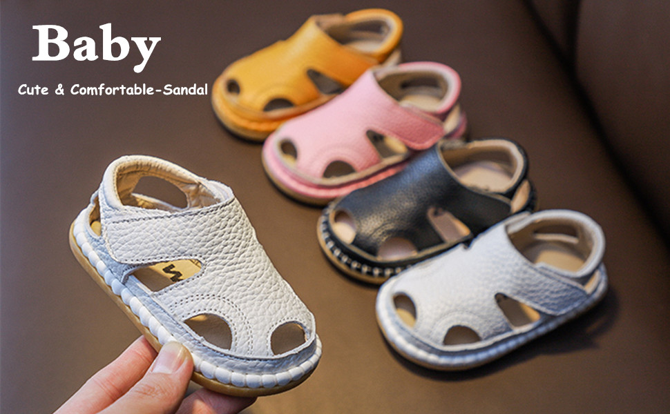 Baby closed toe sandals
