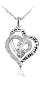 heart necklace for women double heart necklace necklaces heart personalized heart necklaces