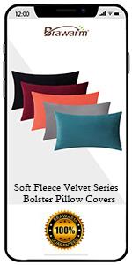 Soft Velvet Bolster Pillow Covers