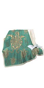 Sleepwish Mandala Turtle Blanket