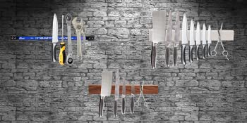 Tools knives magnetic holder strip