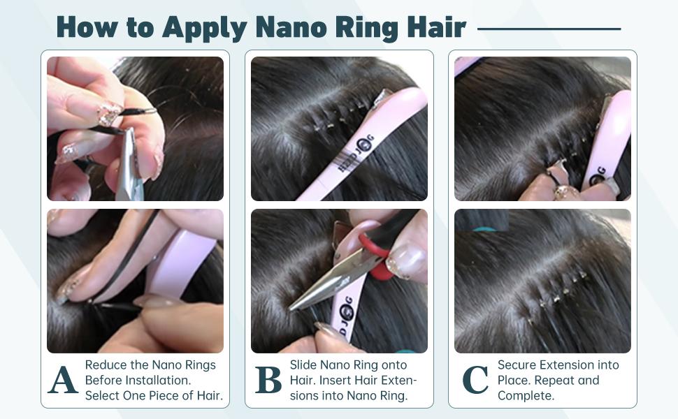 nano ring tip hair extensions real human hair