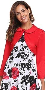 ACEVOG Women Cardigan Shrug Long Sleeve Knit Bolero Top for Dresses