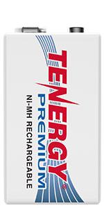 Tenergy Premium Rechargeable 9V