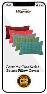 Corduroy Corn Throw Pillow Covers