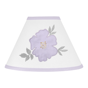 Sweet Jojo Designs Lavender Purple, Grey and White Lamp Shade for Watercolor Floral Collection