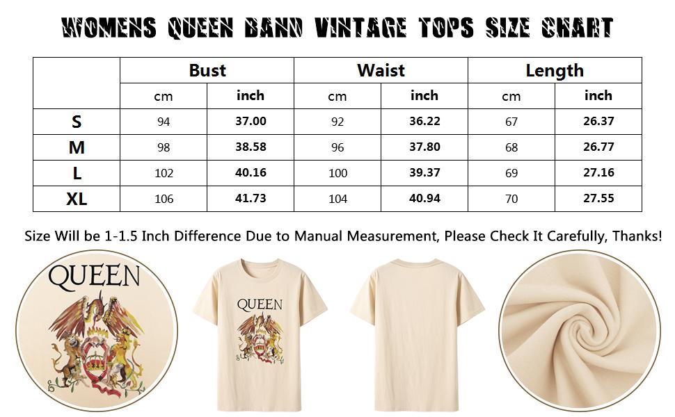 Queen Size Chart