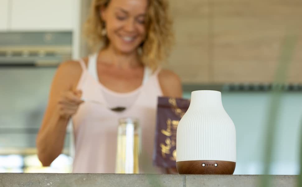 sacred lotus love ceramic essential oil diffuser aromatherapy