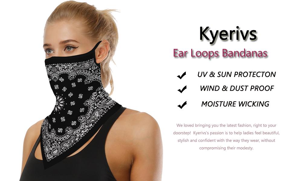 Men/Women Bandanas for Dust, Outdoors, Sports Neck Gaiter Headwear balaclava headband