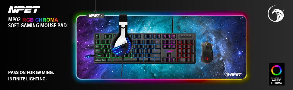 NPET MP02 RGB Mouse Pad