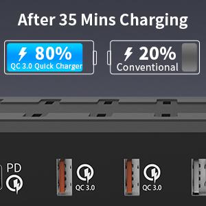 6 ports charging station