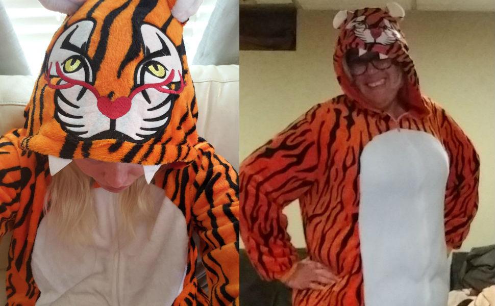 tiger fox deer adult onesie pajamas for women men teens girls boys onsie pijamas halloween costumes