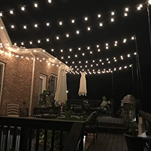 patio string lights outdoor string lights globe bulbs