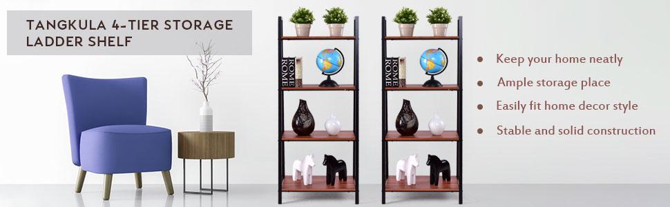 Tangkula ladder shelf