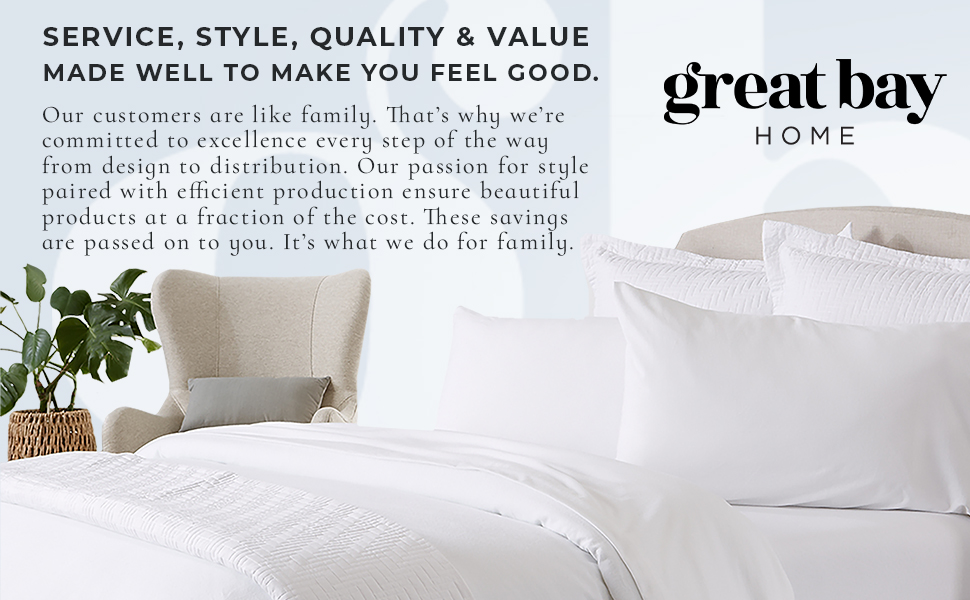 Great Bay Home Bedding, Sheets, Quilts, Duvets