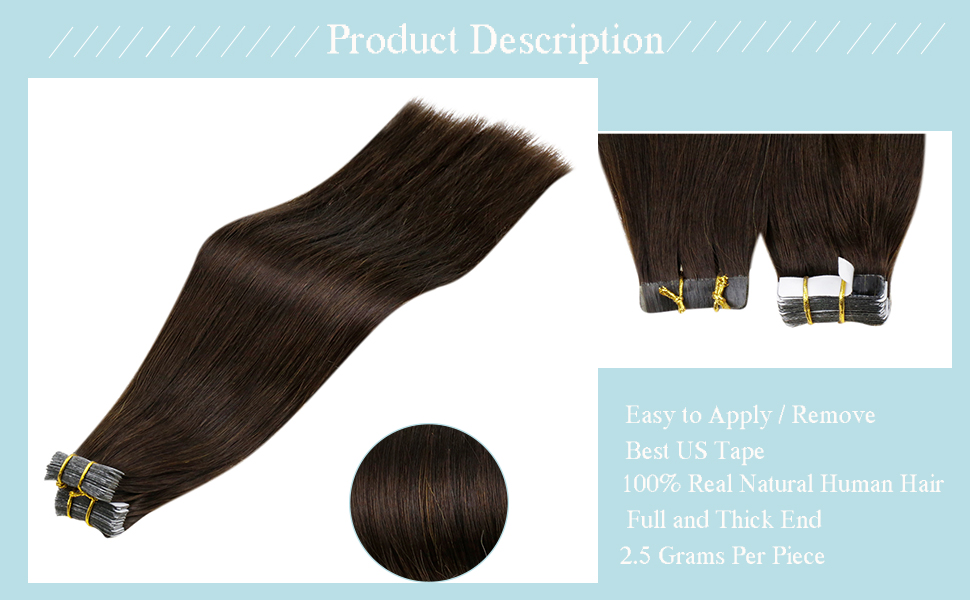 TAPE IN HAIR EXTENSIONS 50 GRAMS PER PACK
