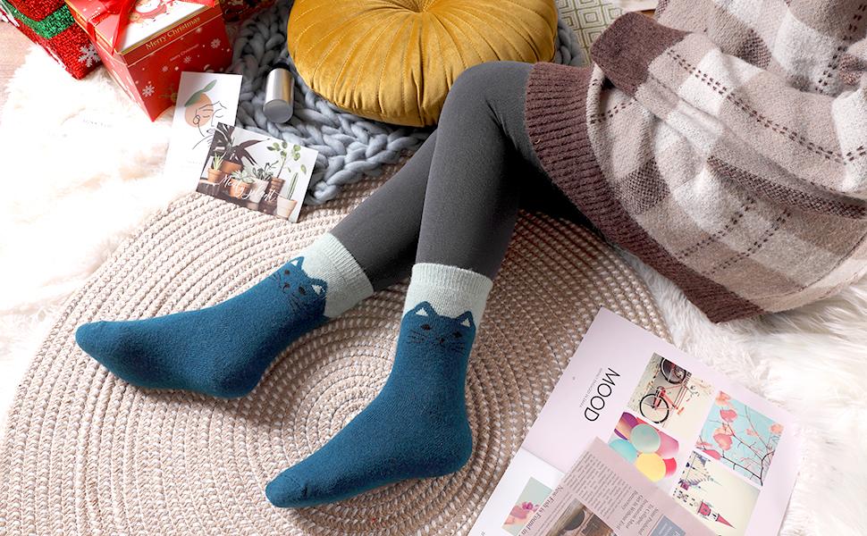 Womens Warm Thick Wool Socks