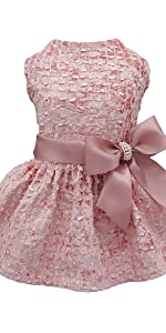 pink party dog dress