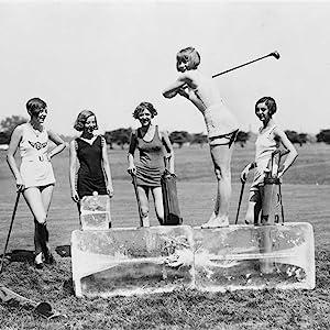 Black White Girls Golfing Canvas Painting