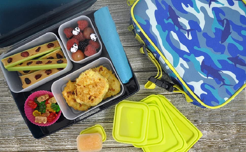 Bentology bento box lunch lunchbox bag tote container ice pack insulate cool set girl kid boy school