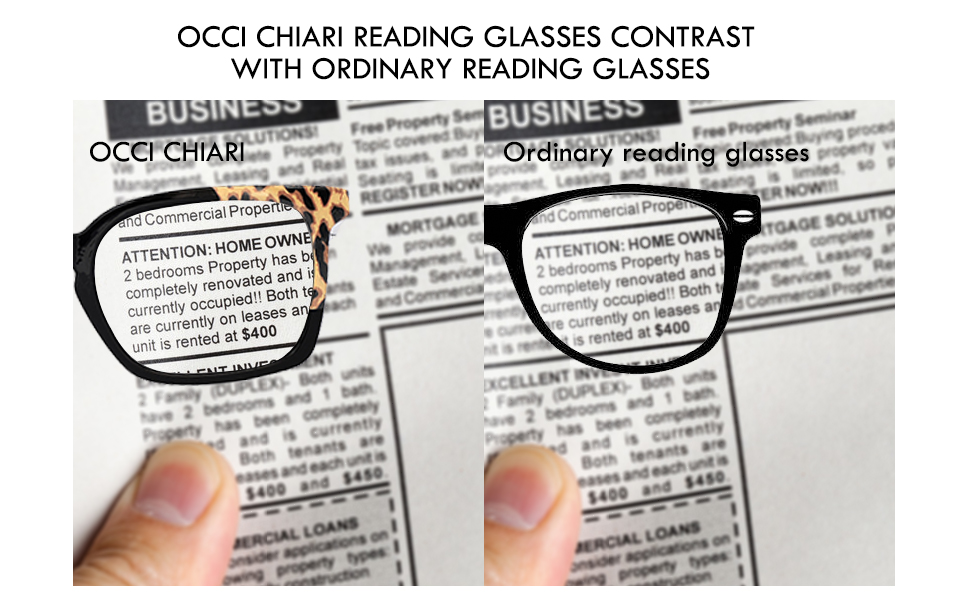 OCCI CHIARI READING GLASSES CAN HELP YOU SEE CLEARLY