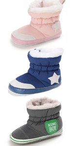 infant Girls Boys Warm Winter Flat Shoes Snow Boots