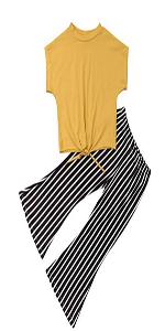 crop top striped pants