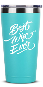 Best Wife Ever - 16 oz Mint Insulated Stainless Steel Tumbler w/Lid Mug Cup