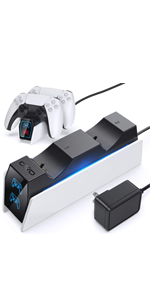 playstation 5 ps5 dualsense controller charger dock station