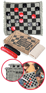 Giant Checkers and Tic Tac Toe Rug
