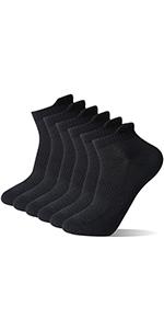 running socks black 6packs