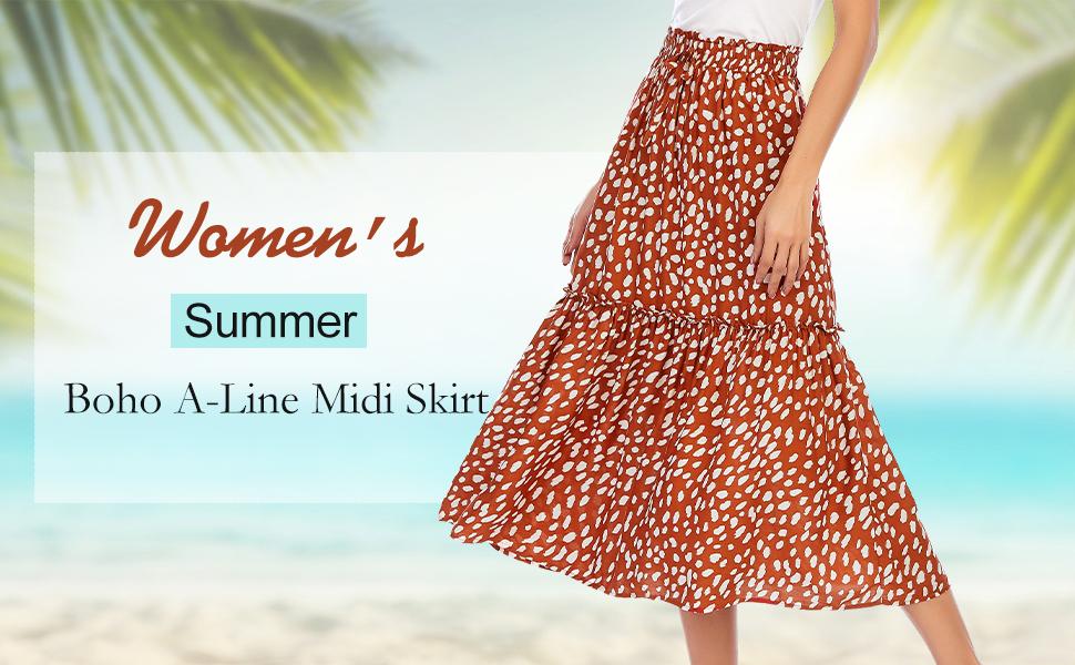high waisted midi skirts for women swing midi skirts with drawstring petite midi skirts summer beach