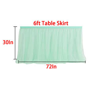 6ft 9ft 14ft Tutu Table Skirts Mesh Tulle Table Skirting Fluffy for Birthday Party, Wedding