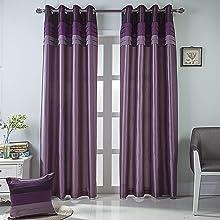 purple blackout curtains