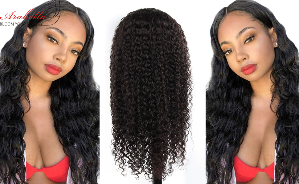 water wave lace frontal wig