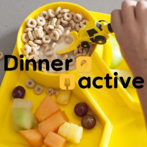 dinneractive constructive eating construction plates utensils kids eating