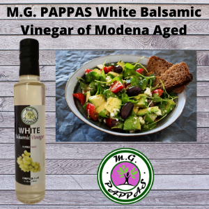 M.G. PAPPAS White Balsamic Vinegar of Modena Barrel Aged Sweet Gourmet 10 Year Old Aceto Balsamico