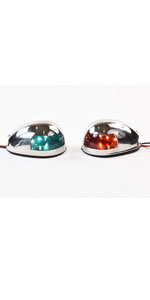 Marine City Stainless-Steel Outside Housing Led Navigation Side Light Red Green 1Set boat parts