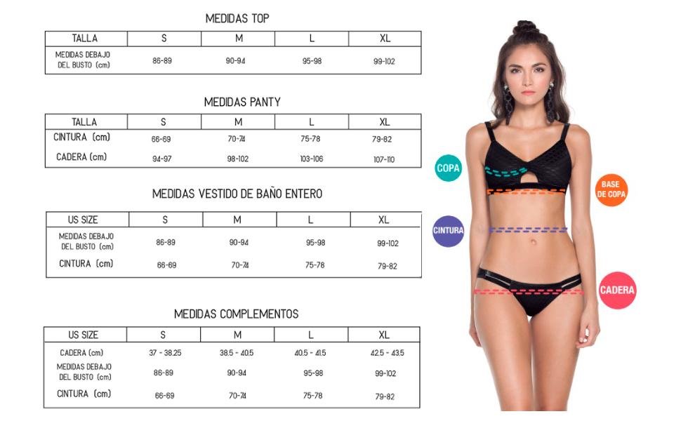 sizechart, agua bendita, swimwear, beachwear, bikini, top, bottom, beach, summer