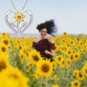 kulrent sunflower necklace