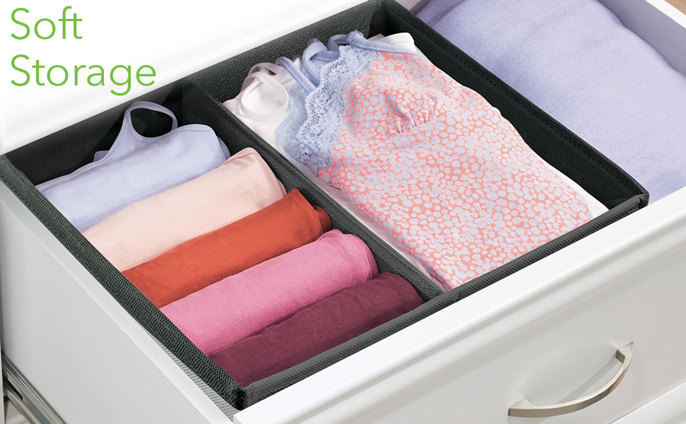 Soft Storage Dresser Chest Drawers Bedroom Closet Office Clothing Socks Underwear Bra Household Baby