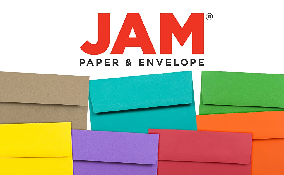 jam paper A7 colored envelopes