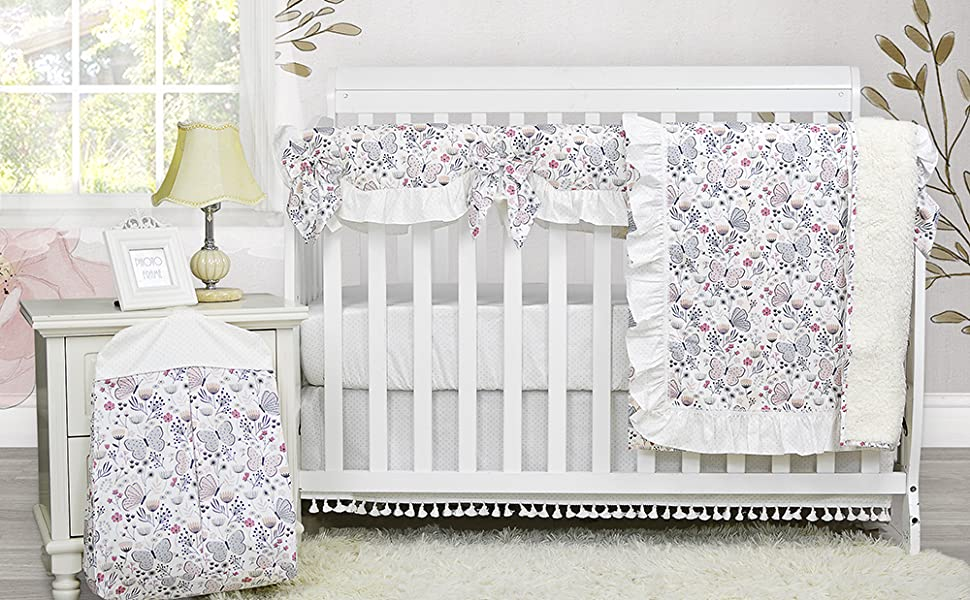 brandream butterfly floral crib bedding sets