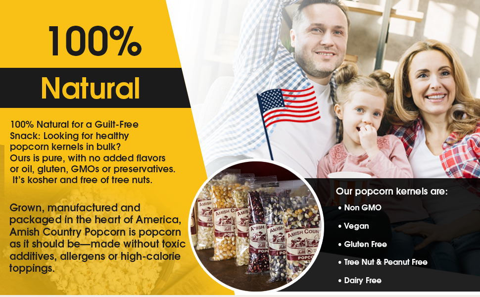 vegan, guilt free, gluten free, dairy free, nut free, lactose free, non GMO, guilt free, popcorn