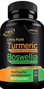 hcl herbal code labs turmeric curcumin ginger boswellia extract supplement spirulina capsules pills