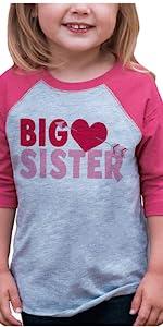 girls valentines day shirt big sister