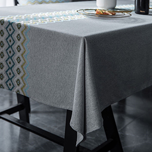Vedouci Stylish Rectangular Tablecloth Cotton LinenTable Cover for Kitchen Dinning Tabletop
