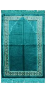 Modefa Lux Plush Islamic Prayer Rug Turkish carpet mat janamaz sajjadah