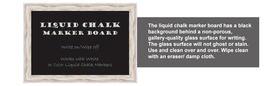 framed liquid chalk marker board